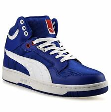 Mens Puma Rebound Mid Ankle Leather Hi Tops Skate Basketball Trainers Shoes Size