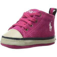 Polo Ralph Lauren Polo Falmuth Hi Layette Pink Suede Soft Soles