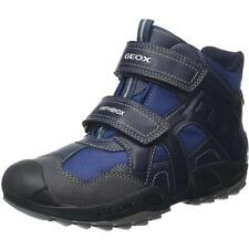 Geox Junior Savage A Navy Textile Ankle Boots