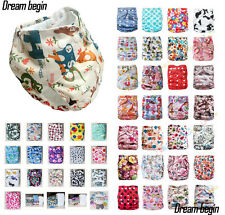 Baby Infant One Size Adjustable Cloth Diapers TPU Pocket Nappy Covers Inserts