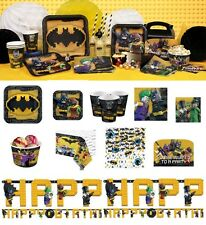 Lego Batman Birthday Party Decoration Invites Sets Plates Cups Napkins Tableware