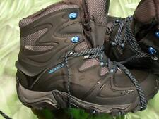 MERRELL NEW POLARAND 8 Waterproof Black Leather Hiking Boots Womens