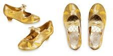 Disney Store Belle Gold Deluxe Costume Shoes Live Action Film 11 12 13 1 NWT