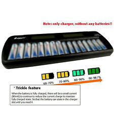 LCD 16 slots Smart Rechargeable Battery Charger for Ni-MH Ni-Cd AA AAA bay Bank