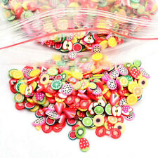 Fashion 1000x3D Mix Tiny Fimo Nail Art Polymer Clay Slices Nail Tips CA