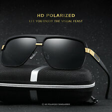 Mens Classic HD Polarized Sunglasses Aviator Driving Fishing Eyewear Glasses