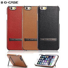 G-Case Plating Series Synthetic Leather Cover Protective Shell With Stand Case