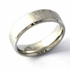 Vintage Jewelry silver plated Carve Roman numerals wedding Band Ring Size 7-11