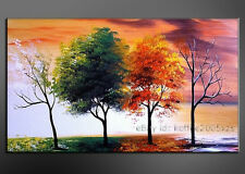 + framed Handmade Oil Painting Modern Canvas Picture Abstract Tree Wall Art