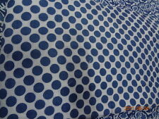 blue color 100% cotton fabric blockhand print indigo print fabric Yards Natural