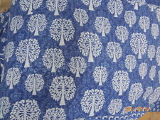 Natural 100% cotton fabric hand block print fabric indigo print By The Yards