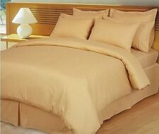 Hotel Bedding Collection-Duvet/Fitted/Flat 1000TC Egyptian Cotton @Gold Striped