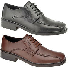 Mens New Black Brown Leather Gibson Wide Fuller Fitting Waterproof Shoes 6 - 12