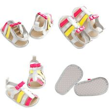 Toddle Baby Girls Boys Soft PU Leather Shoes Infant Anti-slip Prewalker Sandals