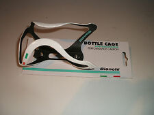 BIANCHI PERFORMANCE CARBON FIBRE BOTTLE CAGE Celeste,Black or White