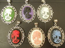 LOLITA DAY OF THE DEAD LARGE CAMEO NECKLACE CHOOSE YOUR COLOUR
