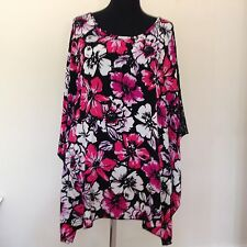 Plus Size Tunic Kimono Style .Pink//Black 3/4 Sleeves. Simply Be. New with Tags