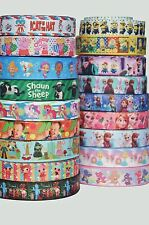 """Printed Grosgrain Ribbon 22mm (7/8"""") 25mm (1"""") wide   Hair Bows Cake Party Craft"""