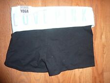 """VICTORIAS SECRET PINK """"LOVE PINK"""" FOLD OVER YOGA SHORTIE SHORTS NWT"""