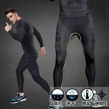 New Mens Sports Gym Compression Pants Shorts Skin Leggings Tight Pants TopsDB