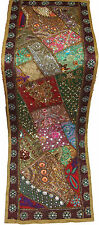 INDIAN WALL TAPESTRY HOME DECORATION HEAVY PATCH WORK EMBROIDER TABLE RUNNER RUG