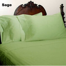 US CHOICE BEDDING COLLECTION 1200TC EGYPTIAN COTTON SAGE STRIPE SELECT YOUR ITEM