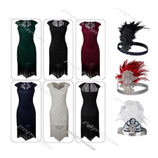 Lace 1920s Embellished Beaded Flapper Gatsby Party Charleston Evening Prom Dress