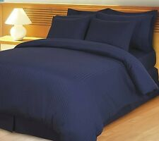 US CHOICE BEDDING COLLECTION 1200TC EGYPTIAN COTTON NAVY BLUE STRIPE SELECT ITEM
