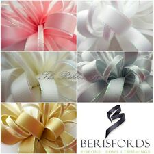 5MM - 15MM IRIDESCENT EDGE SATIN RIBBON 5 COLOURS, 3 LENGTHS BY BERISFORDS