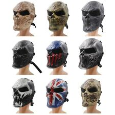 Hot Airsoft Paintball CS Mask Tactical Military Ghost Full Face Skull Skeleton