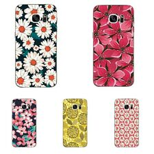 Case For Samsung Galaxy S4 S7 Edge Soft TPU Cell Phone Back Cover Skin Flowering
