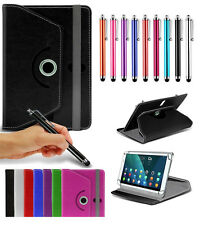 """For Archos 101e Neon (10.1"""") Tablet Case Cover 360 Rotating Stand Wallets + Pen"""