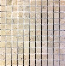 Sahara Gold 1 in. x 1 in. Mosaic Polished Marble Floor & Wall Tile