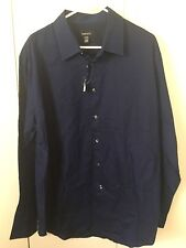 VAN HEUSEN Windowpane Check BLUE AND RED ROSEWOOD Casual POLO SHIRT BIG AND TALL