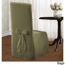 SET OF 2 Chic Modern Stripe Dining Chair Covers Slipcovers Linens 3 Colors