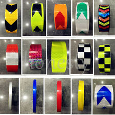 Reflective Safety Warning Conspicuity Tape Film Sticker Cars 30CM 3M 5M Colorful