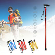 Novelty Adjustable Aluminum Metal Walking Stick Folding Collapsible Travel Cane