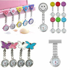 New Cute Pendant Butterfly Nurse Clip-on Brooch Quartz Hanging Pocket Watch EG