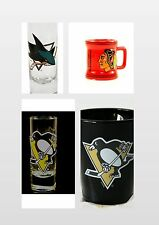 NHL 3 STYLES TO SELECT - CLEAR CORDIAL SHOOTER SHOT GLASS, SHOT MUG, SHOT GLASS