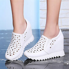 Womens Shoes Cow Leather Fashion Sneakers Sport Sandals Wedge Ankle Boots Summer