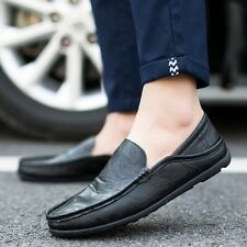Summer Mens Shoes Moccasins Driving Gommino Slip On Faux Leather Casual Loafers
