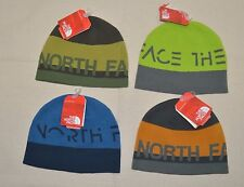 The North Face Reversible Logo Banner Beanie Men Women Unisex One Size Hat New