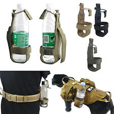Nylon Tactical Hiking Molle Water Bottle Holder Belt Bottle Carrier Pouch Bag