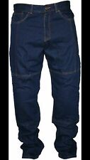 Men's Motorcycle Motorbike slim fit reinforced jeans protective lining