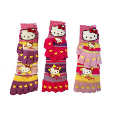 HELLO KITTY socks non-slip with dita+ gloves in soft wool one size