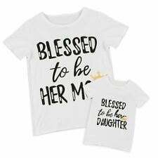 Fashion Summer Family Matching Short Sleeve Mom Kids T-shirt Casual White Letter