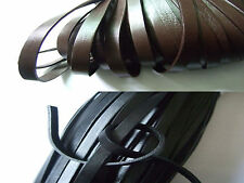 1/5 Meters Brown/Black 8mm Flat Genuine Real Leather Cords 2mm Thickness
