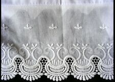 New Embroidered Lace PillowCases White 100% Cotton Standard Pair  M9#