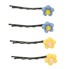 8pcs Cute Candy Colors Flowers Hair Clips Girls Hairwear Baby Kids Hairpins Gift