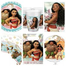 MOANA Birthday Party Kit for 8-40 Plates Cups Napkins Table Cover Party Bags